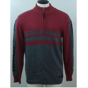 Harley Davidson quarter zip ribbed sweater
